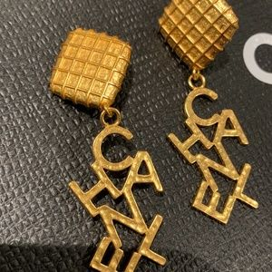 CHANEL Jewelry - Vintage Chanel 97P Logo Clip Earrings